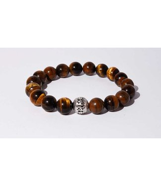 Mr.FRILL Mr.FRILL handmade bracelets - tiger eye stone - brown