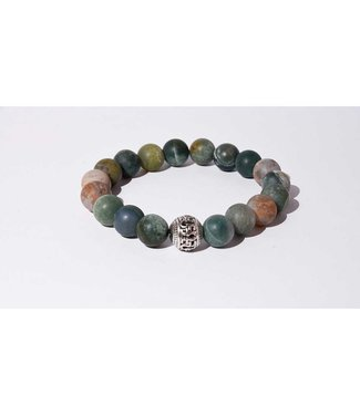 Mr.FRILL Mr.FRILL handmade bracelets - India agate stone - green