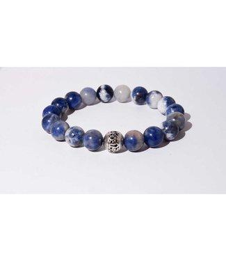 Mr.FRILL Mr.FRILL handmade bracelets - Soladite stone - blue, white