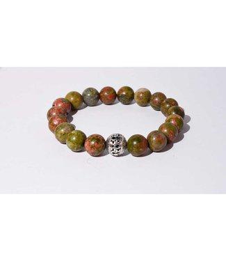 Mr.FRILL Mr.FRILL handmade bracelets - Unakite stone - green