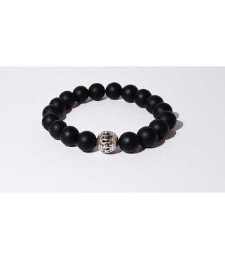 Mr.FRILL Mr.Frill handmade bracelets - Black agate stone - black matte