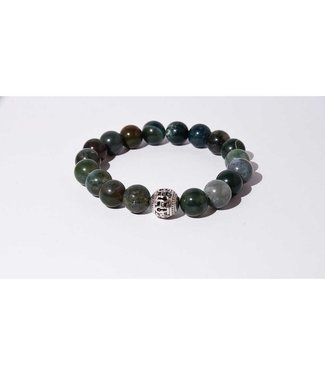 Mr.FRILL Mr.FRILL handmade bracelets - Indian Agate stone - matte