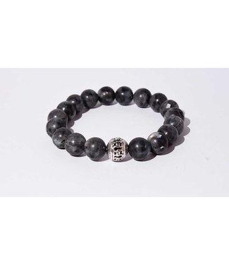 Mr.FRILL Mr. Frill Handmade bracelet - spectrolite stone black