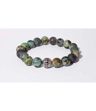 Mr.FRILL Mr. Frill Handmade bracelet - African jasper stone - green