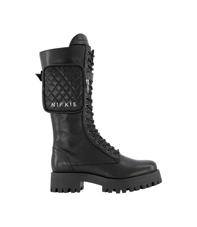 NIKKIE NIKKIE BRANDY COMBAT BOOTS N9-750 2102 9000 BLACK