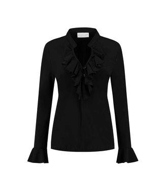 HELENA HART HELENA HART blouse ruche zwart 7257