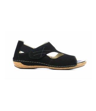 waldlaufer Waldlaufer sandaal denver zwart 342004 191 001