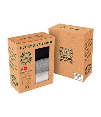 KRONSTADT KRONSTADT  elon recycled cotton 3-pack t-shirt KS3348 grey/white/black