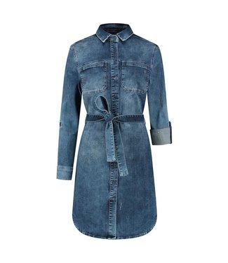 PARA MI PARA MI sammy dress p-form denim SS211.022164 D65- cloudly blue