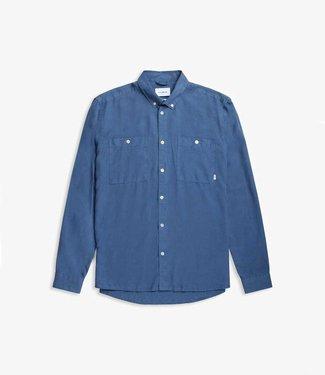 WOODBIRD Woodbird pican tenc shirt dust blue style no. 2116-710