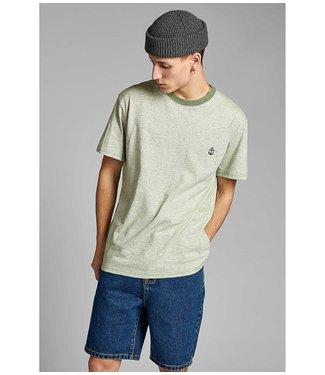 ANERKJENDT Anerkjendt shirt heren 900133 akkaki curv EMB vineyard green