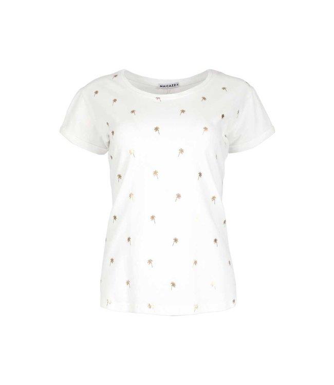 MAICAZZ Maicazz Taza t shirt SU21.75.001 off white gold
