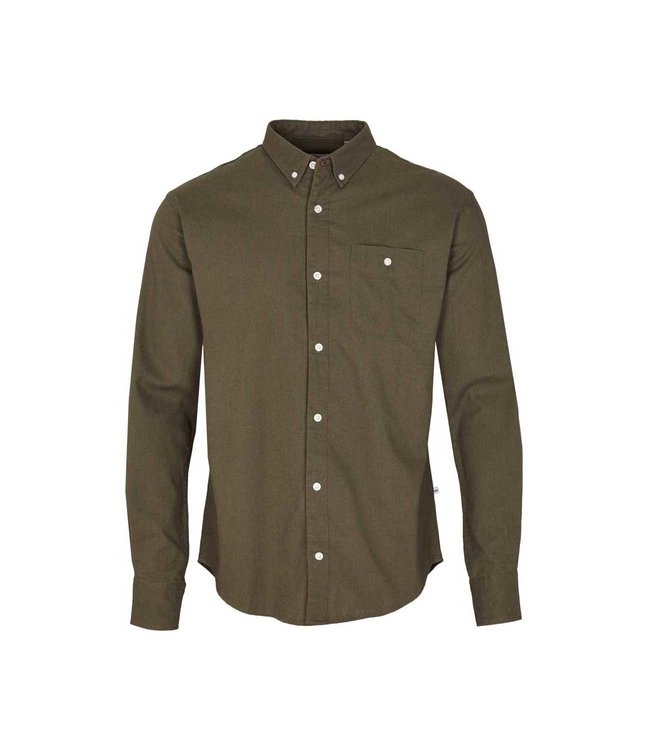 KRONSTADT Kronstadt johan linen shirt army KS3000