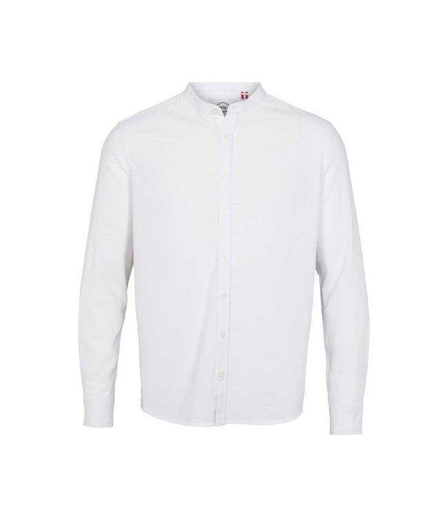 KRONSTADT Kronstadt KS3308 johan linen henley shirt white