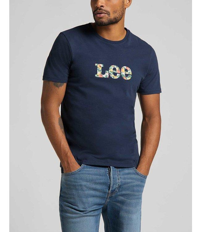 LEE LEE SUMMER LOGO T SHIRT NAVY L63LFE35