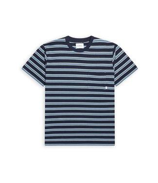 WOODBIRD WOODBIRD troi striped tee style no. 2116-401 navy