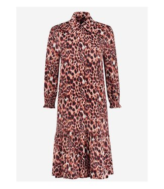 FIFTH HOUSE Fifth house Sara printed dress FH 5-222 2104 apricot panther