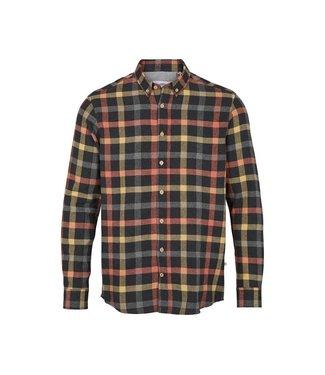 KRONSTADT kronstadt KS3322 johan  check gr.40  shirt orange mens