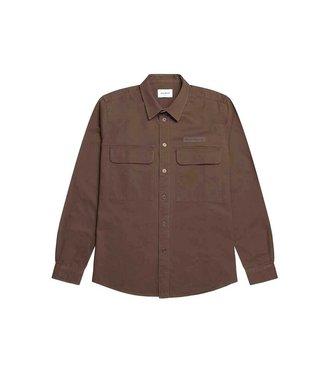 WOODBIRD Woodbird hoxen work shirt brown 2116-708