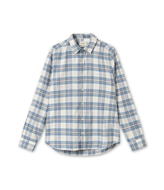 FORET Foret wild shirt blue check F614