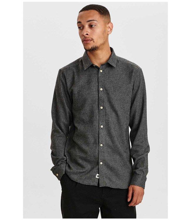 ANERKJENDT Anerkjendt Aklouis 2 tone melange shirt 900313 granit grey mel