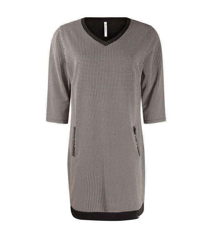 ZOSO Ziso jurk mandy 215 black/offwhite