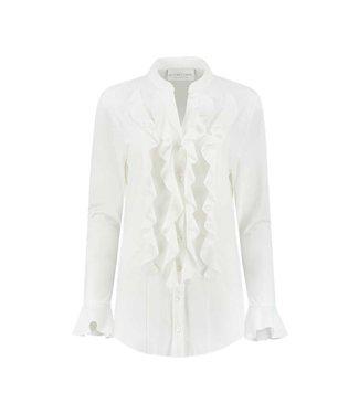 HELENA HART Helena Hart blouse volant wit 7258