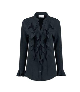 HELENA HART Helena Hart blouse volant 7258 marine