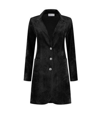 HELENA HART Helena Hart blazer velvet lang 7323 zwart