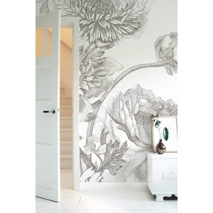 KEK Amsterdam Photo Wallpaper 'Engraved flowers IV'