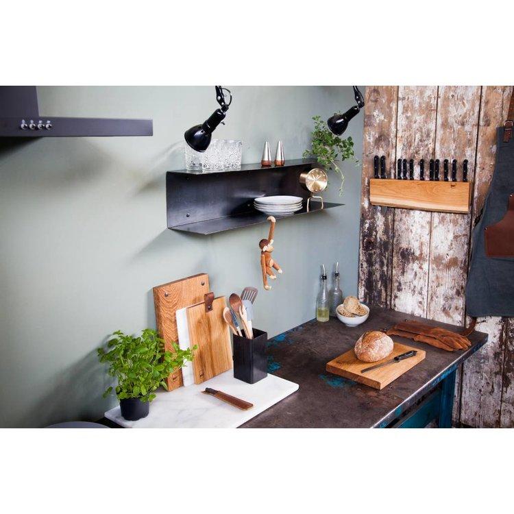 Brût Home Industrials Brût Home Industrials Schürze Canvas Leder braun/blau