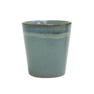"""HKliving Cup 70's keramische """"Moss"""", set van 2"""