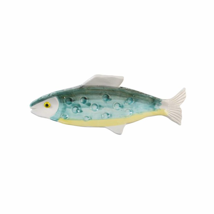 &Klevering &Klevering Anouk Fish Plate Green Yellow 31x11cm