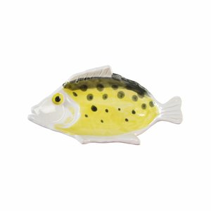 &Klevering &Klevering Anouk fishplate small yellow 16,5x9cm