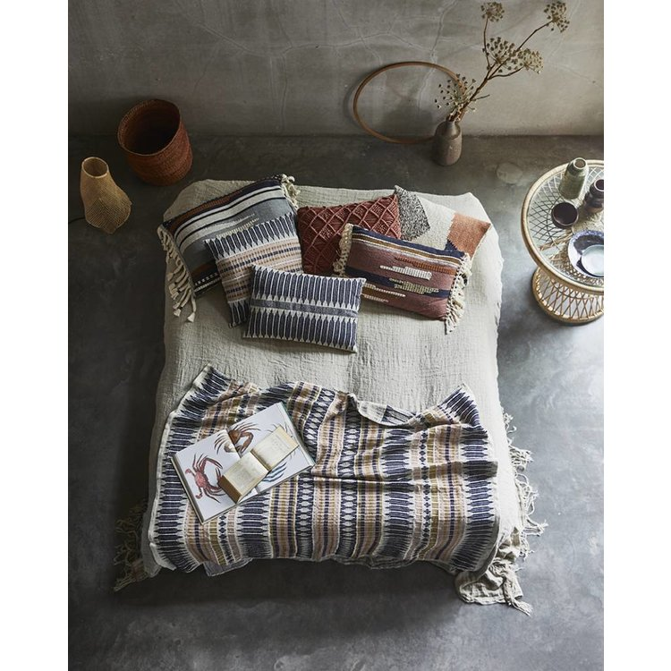 HKliving HKliving Pillow knotted autumn colors - 40x60cm