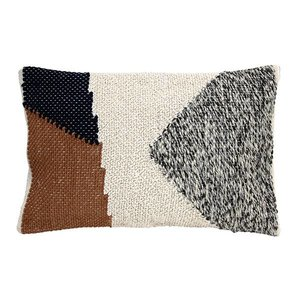 HKliving Pillow knotted autumn colors - 40x60cm
