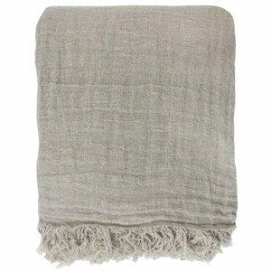 HKliving linen bedspread natural (270x270)
