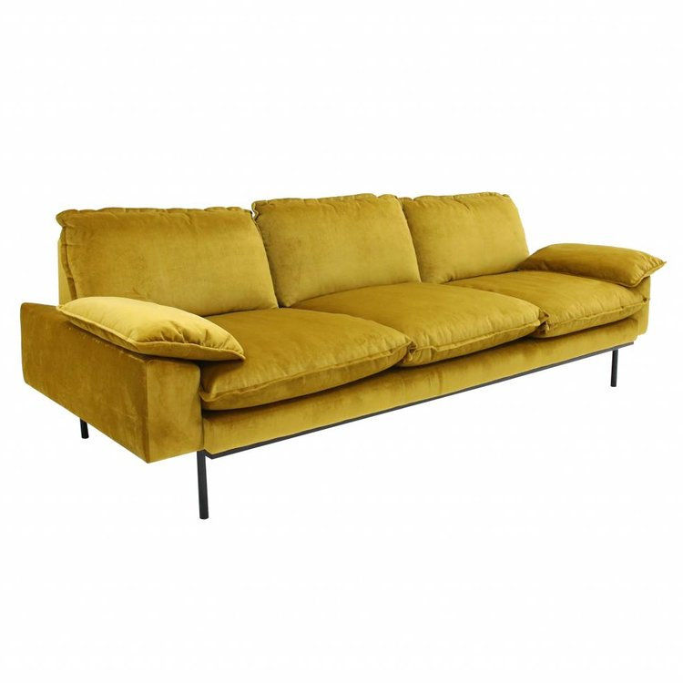 HKliving HKliving Sofa Retro 3 Seater ochre