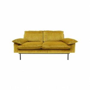 HKliving Sofa Retro 2 Seater ochre
