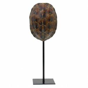 HKliving Schildpaddenschild op standaard kunst zwart 11x10x26,5cm
