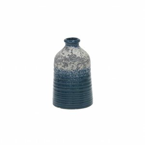 HKliving Vase S handmade ceramic blue 8,2x8,2x12,8cm