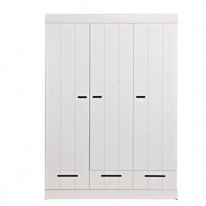 WOOOD Connect 3-doors Basic -drawer- Strip Doors Cab White [fsc]