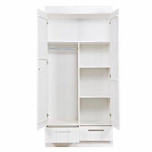 WOOOD Interieurpakket garderobekast Connect 2 deurs 2 lades wit