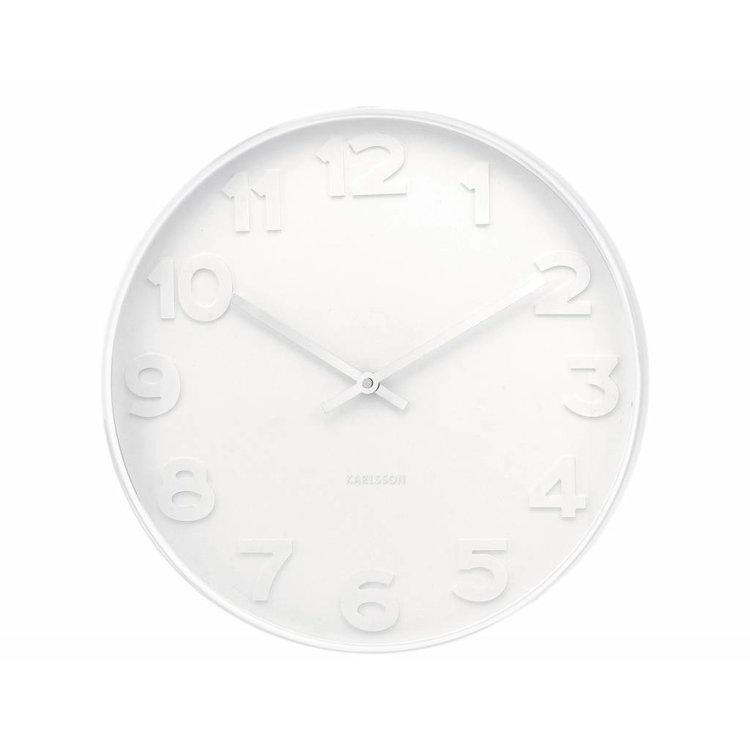 """Karlsson Karlsson Wall clock """"Mr White"""" Ø37,5cm"""