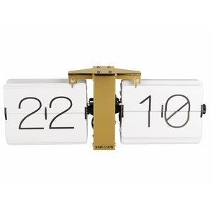 Wall clock Flip gold