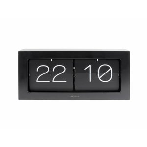 Karlsson Clock Flip Boxed XL black