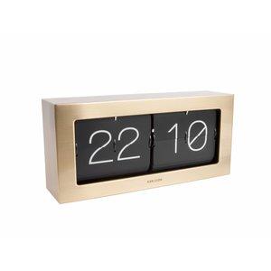 Karlsson Karlsson Clock Flip Boxed XL gold