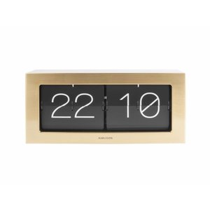 Karlsson Clock Flip Boxed XL gold