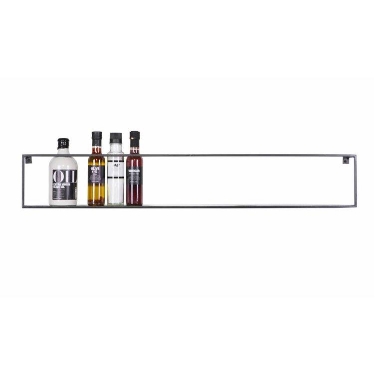 Wandplank Zwart Metaal.Woood Wandplank Meert Metaal Zwart 100cm Orangehaus