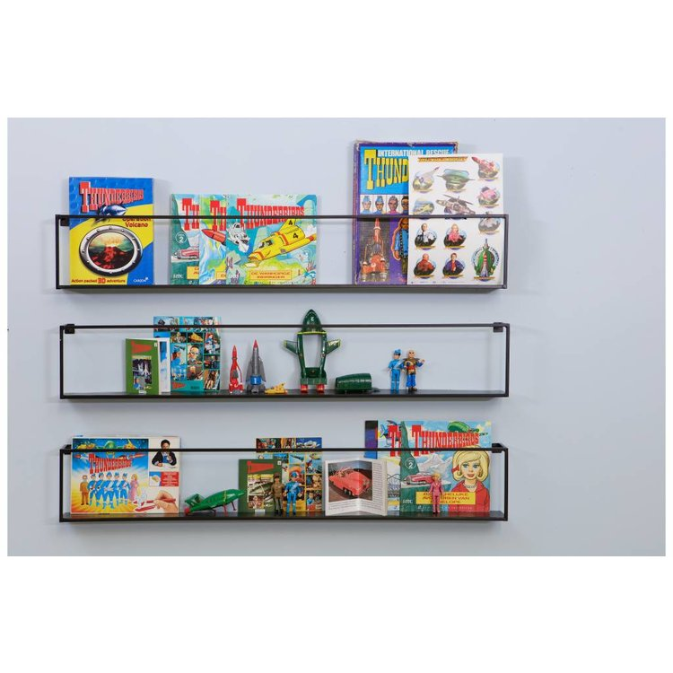 WOOOD WOOOD Wall shelf Meert metal black 100cm